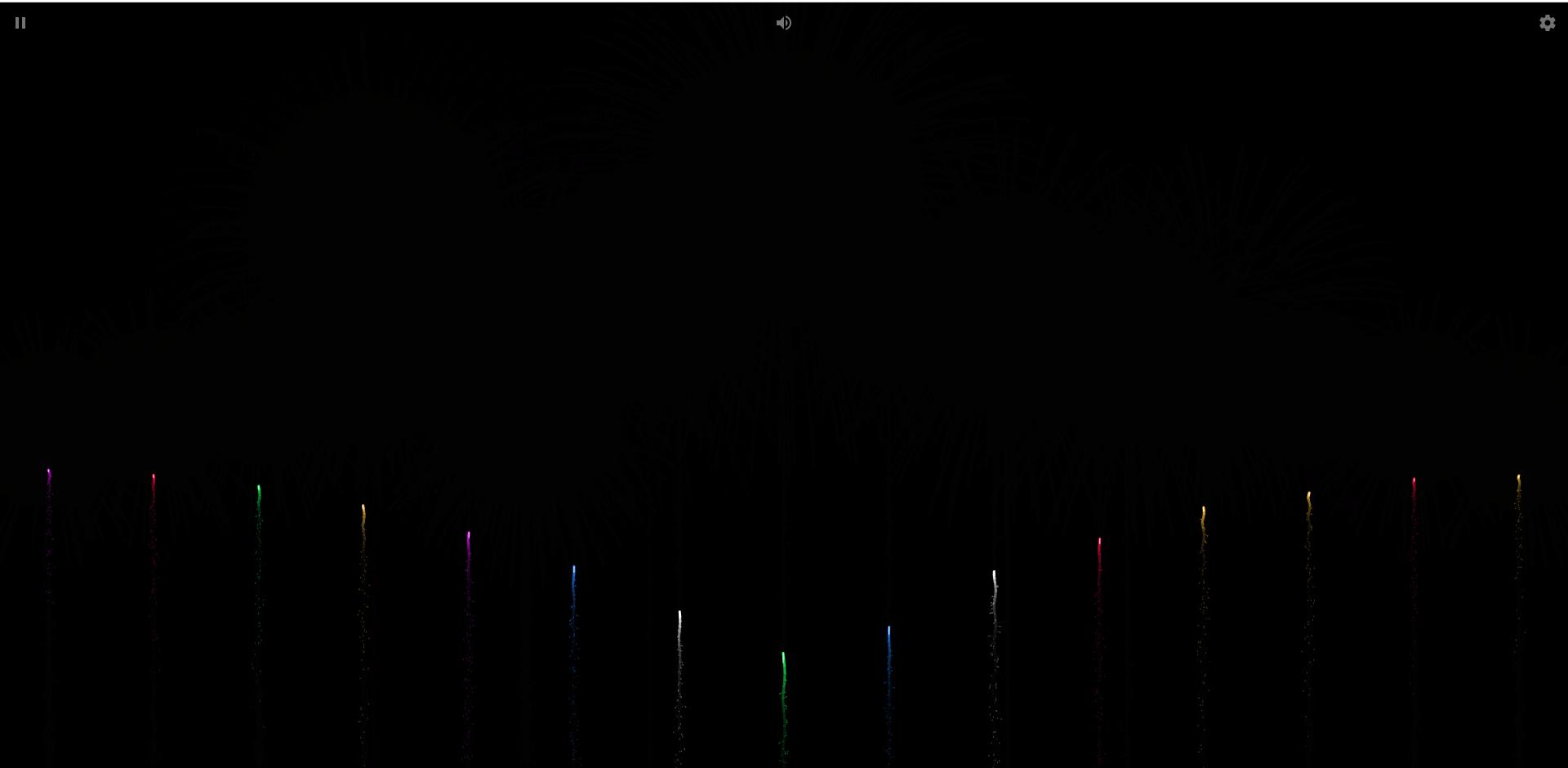 一款非常漂亮的html5烟花燃放模拟网页源码视觉听觉都很逼真-常网小站Miknio