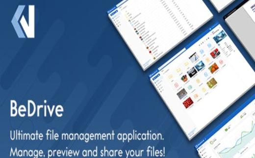 BeDrive v2.2.2国外专业的文件上传网盘PHP网站源码