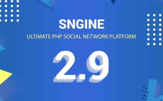 Sngine v2.9社交网站PHP程序源码免授权带APP源码