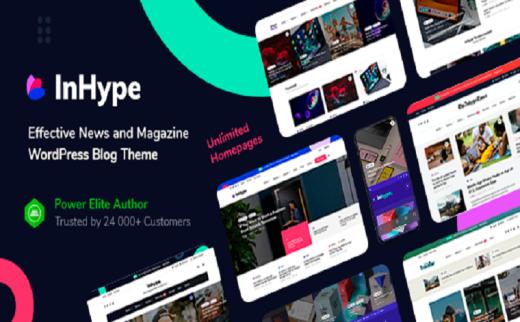 WordPress主题InHype v1.0.2博客和杂志主题带插件
