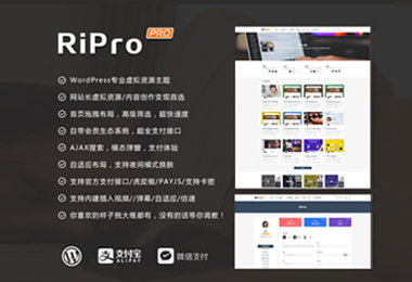 WordPress主题RiPro6.1最新破解版去授权